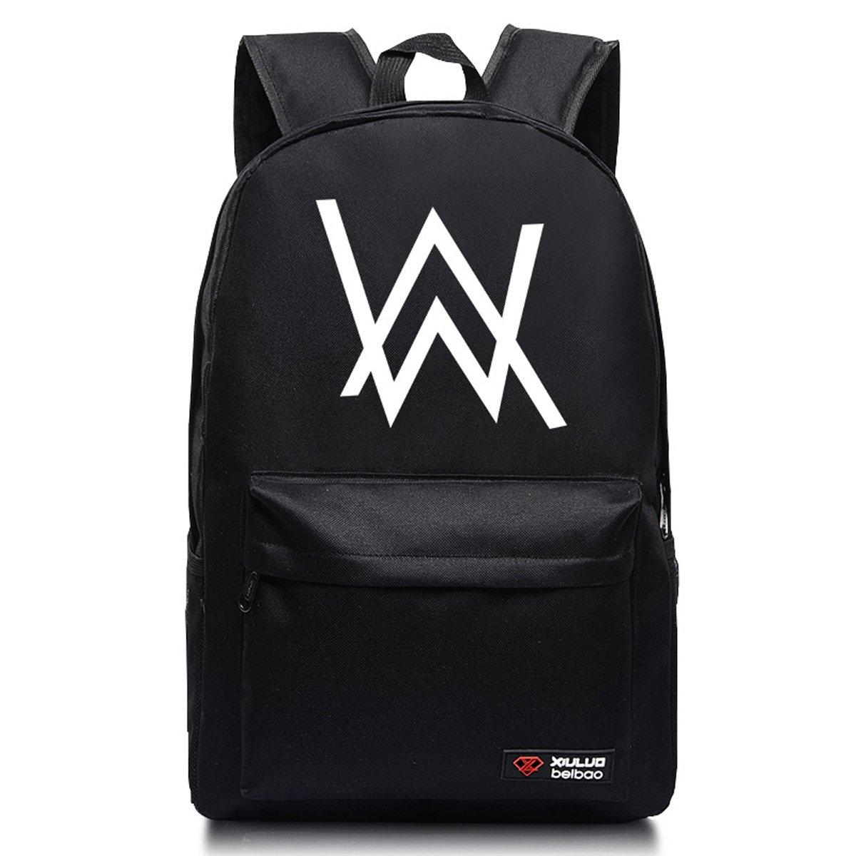 f050464e92c YOURNELO Faded Alan Walker High Capacity Backpack Canvas School Bag Bookbag