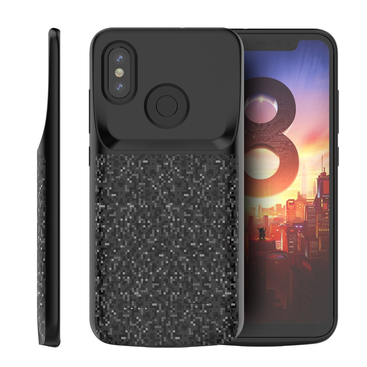 Codream Xiaomi Mi 8 Battery Case, Portable Charging Case Xiaomi Mi 8 Extended Battery Juice Pack Power Bank ()