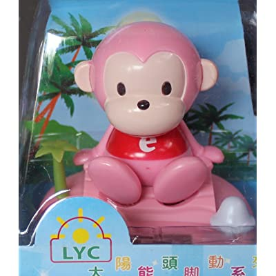 "L@YC 4"" Solar Dancing Monkey (Pink): Toys & Games"