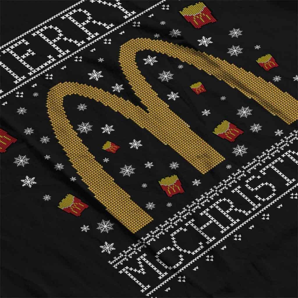 Coto7 Merry McChristmas McDonalds Christmas Knit Pattern Men's Sweatshirt