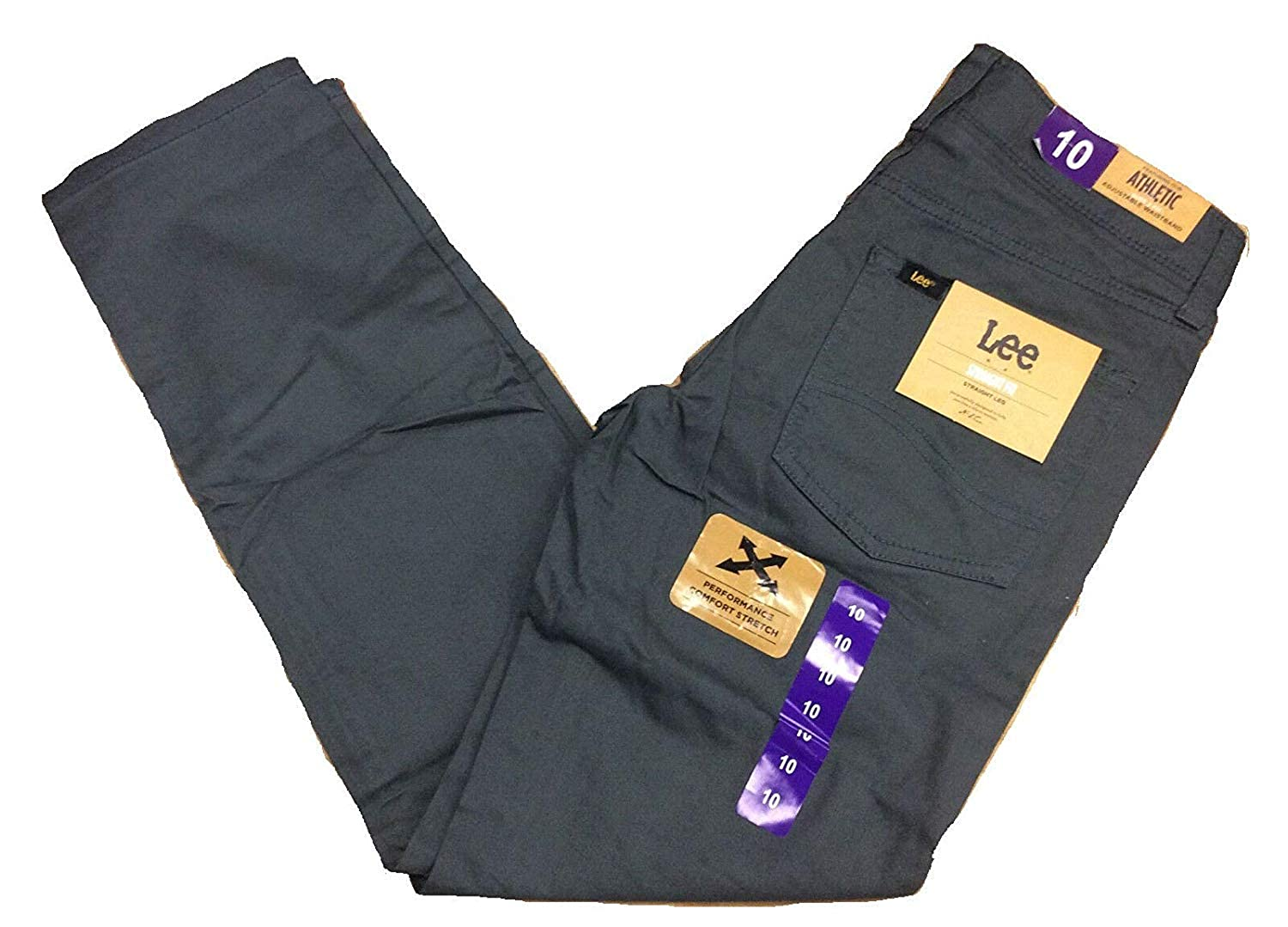 LEE Boys Straight Fit Straight Leg Performance Comfort Stretch Pants Jeans