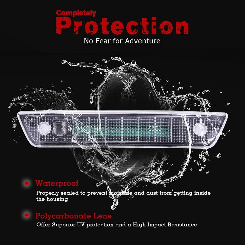 Fit For 2005-2010 Jeep Grand Cherokee High Mount Brake Light Red Lens LED Light LED 3rd Brake Light Cargo Light