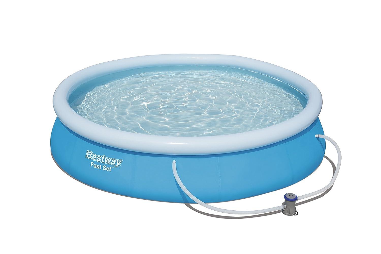 Bestway 57274 Piscina Fast Set, 366 x 76 cm Bestway Italia S.r.l. acqua best way frame fuoriterra giardino piscine fuori terra
