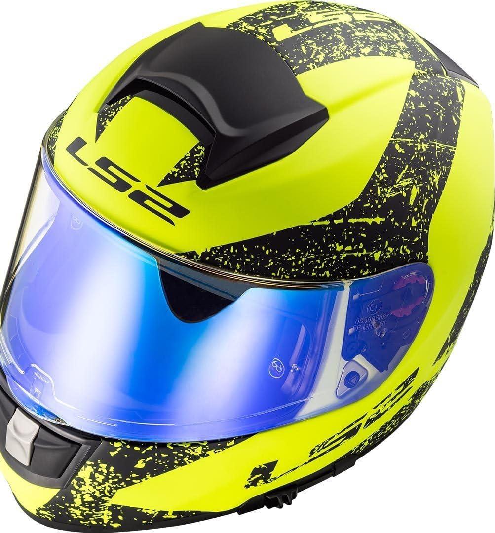 Motorradhelm LS2 FF397 VECTOR FT2 SIGN MATT Schwarz Blau Schwarz//Blau L
