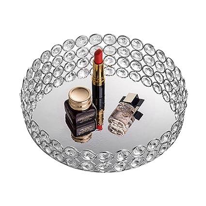 feyarl cristal bandeja de cosméticos organizador de joyas bandeja – bandeja decorativa