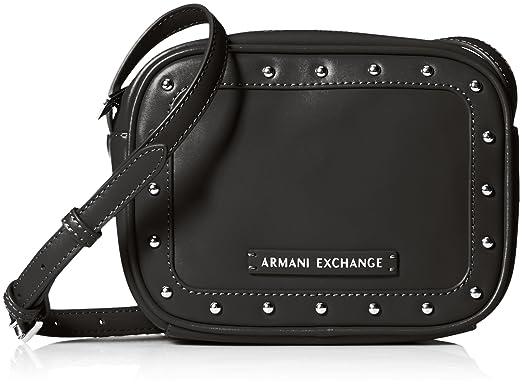 73ad754847 Amazon.com: A|X Armani Exchange Studded Small Crossbody Bag, 00020 ...