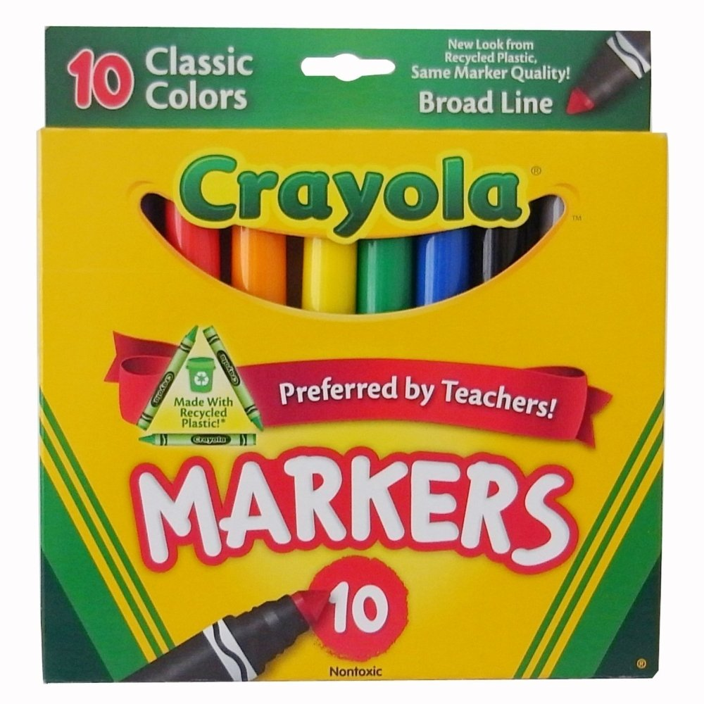 Crayola 58-7722 Classic Color Broad Line Markers 10 Count