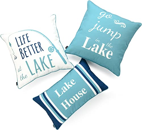 Hofdeco Lake House Indoor Outdoor Pillow Cover ONLY