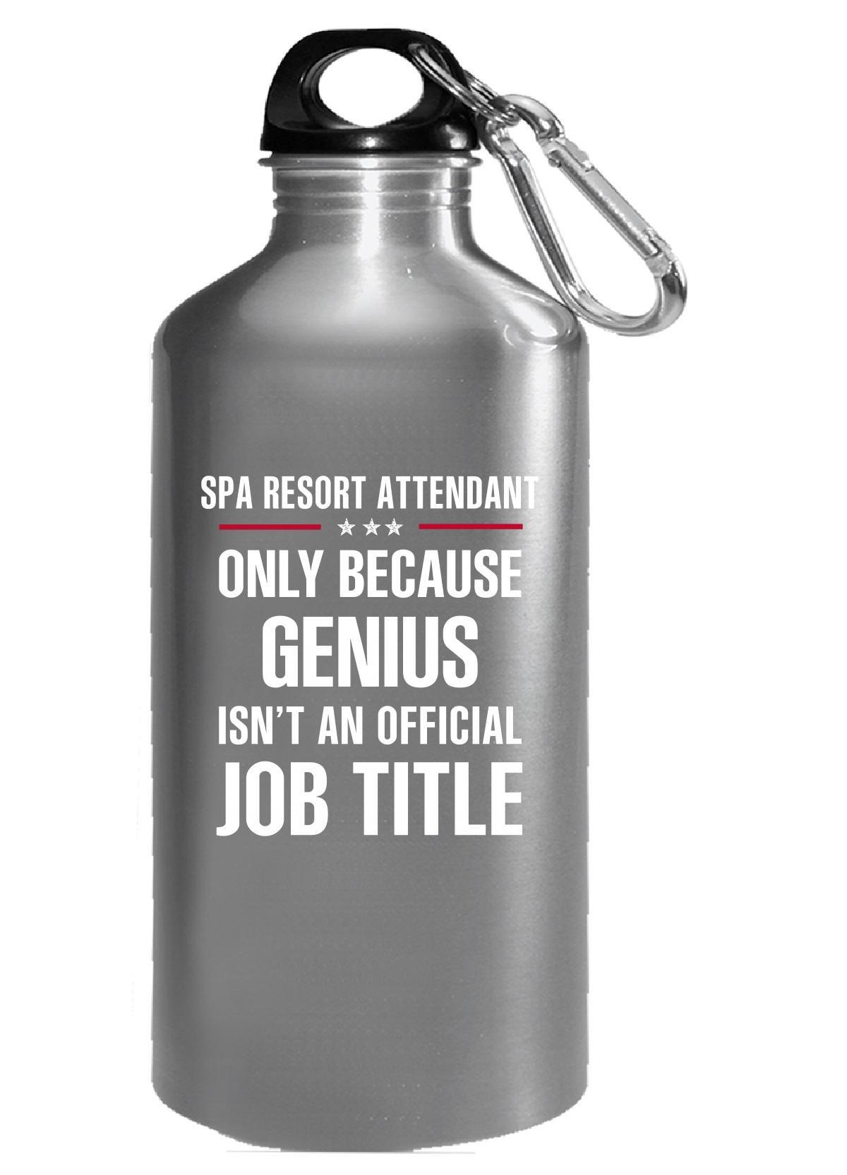 Gift For Genius Spa Resort Attendant - Water Bottle
