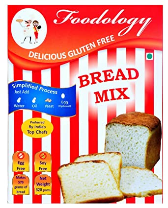 Foodology - Gluten Free- Bread Mix - Perfect for Gluten free Sandwich  loaves, baguettes and flatbreads - Lab Tested - Preferred by Top Chefs -  Highest