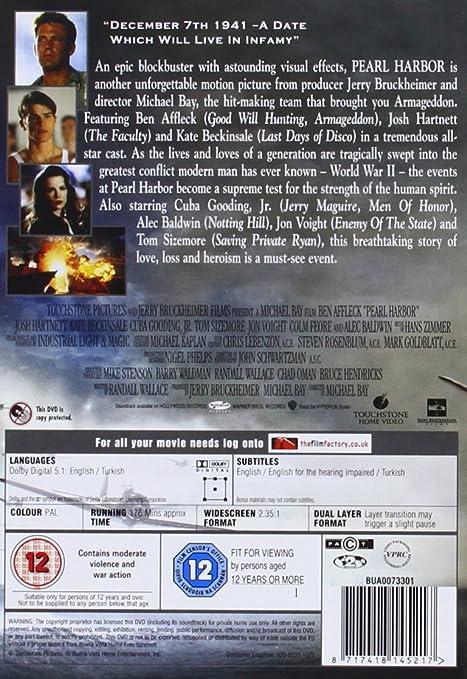 Pearl Harbor [Reino Unido] [DVD]: Amazon.es: Ben Affleck: Cine y Series TV