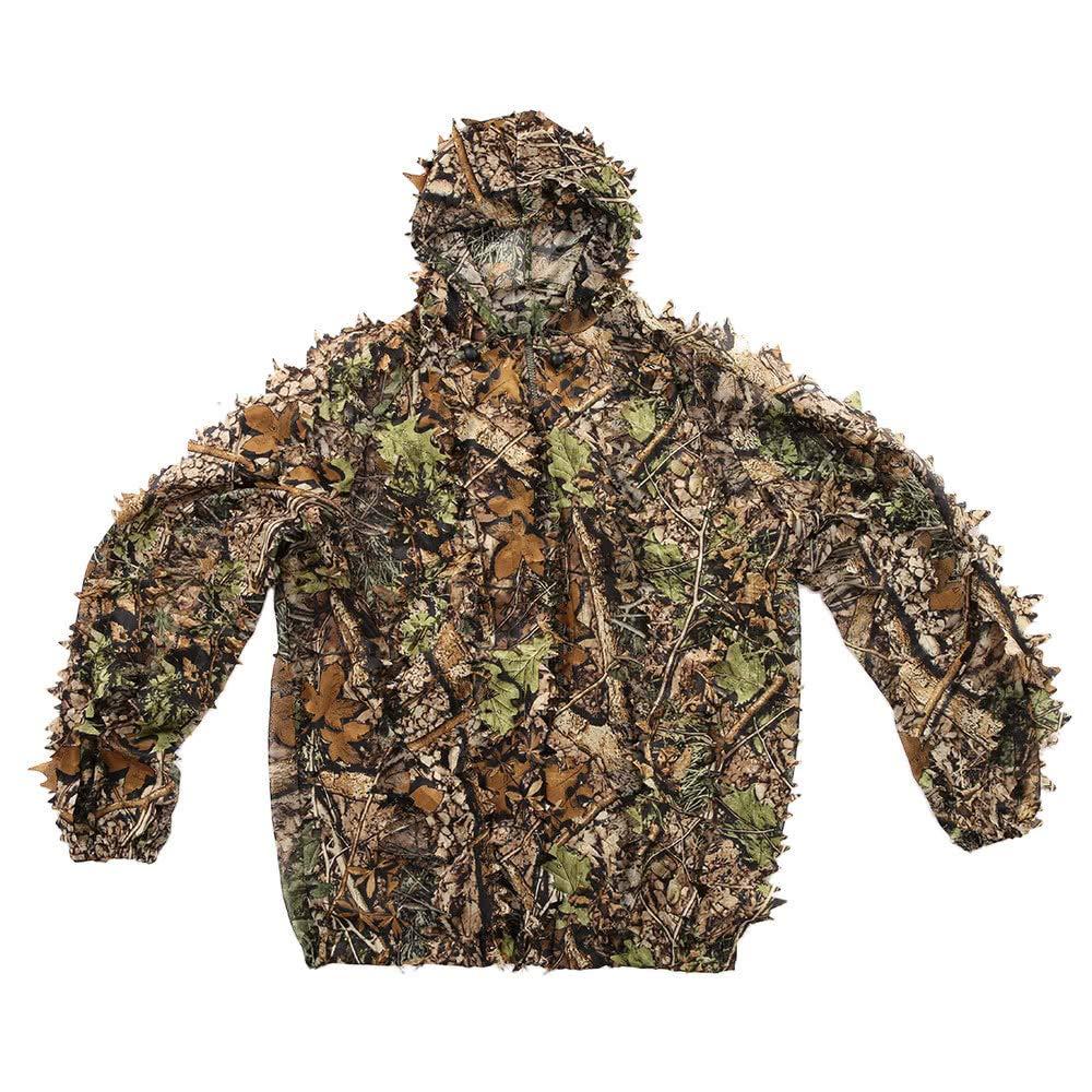Lixada 3D Ghillie Suit Dschungel Woodland Camouflage Wald Jagd Gaming Getarnter Umhang