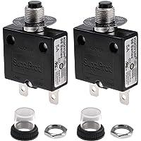 Protector de sobrecarga térmica Disyuntor rearme manual Botón Interruptor 3 Amp