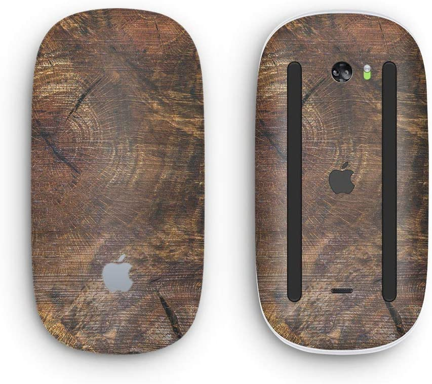Raw Wood Planks V7 Wireless, Rechargable with Multi-Touch Surface Design Skinz Premium Vinyl Decal for The Apple Magic Mouse 2