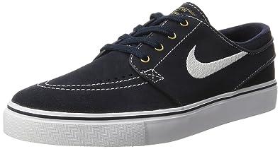 best website ed41c fafe1 Nike Mens Zoom Stefan Janoski Skateboarding Shoes, Blue (Dark Obsidian  White), 6.5