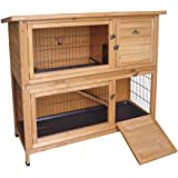 Wooden Rabbit or Guinea Pig Easipet Hutch - Two Tier (339)
