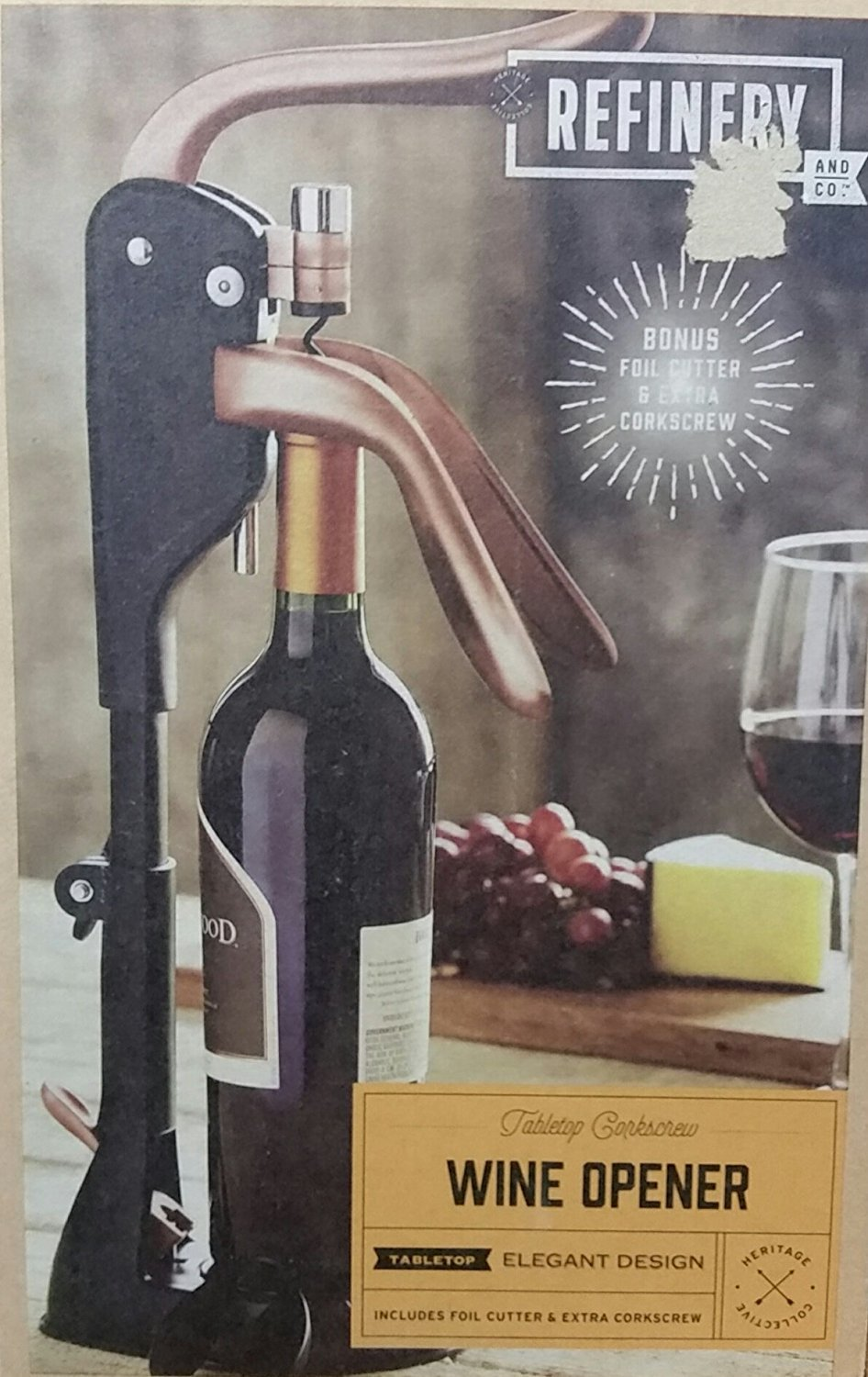 Refinery Tabletop Corkscrew Wine Opener by Refinery