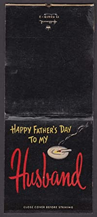 Happy Fathers Day To My Husband Giant Feature Matchbook At Amazons