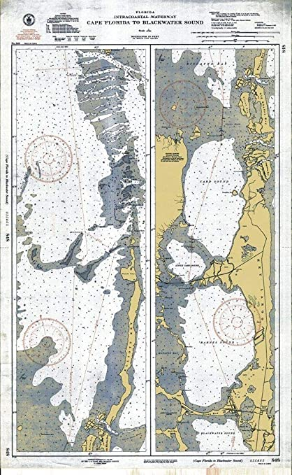 Amazoncom Vintography Reprinted 8 X 12 Nautical Map Of - Us-intracoastal-waterway-map