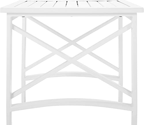 Crosley Furniture CO6208-WH Kaplan Outdoor Metal Side Table