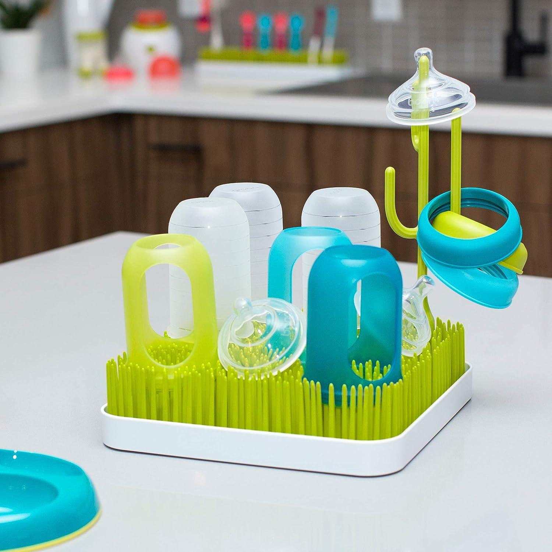 Boon - Escurridor para biberones y vajilla infantil, diseño de césped