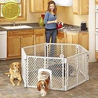 North States MyPet Indoor/Outdoor Petyard: Pet enclosure with lockable pet door. Freestanding…