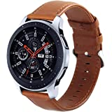 KADES Genuine Leather Retro Cowhide Band with quick release pin for Samsung Gear S3 Classic and Gear S3 Frontier (Large,Brown)