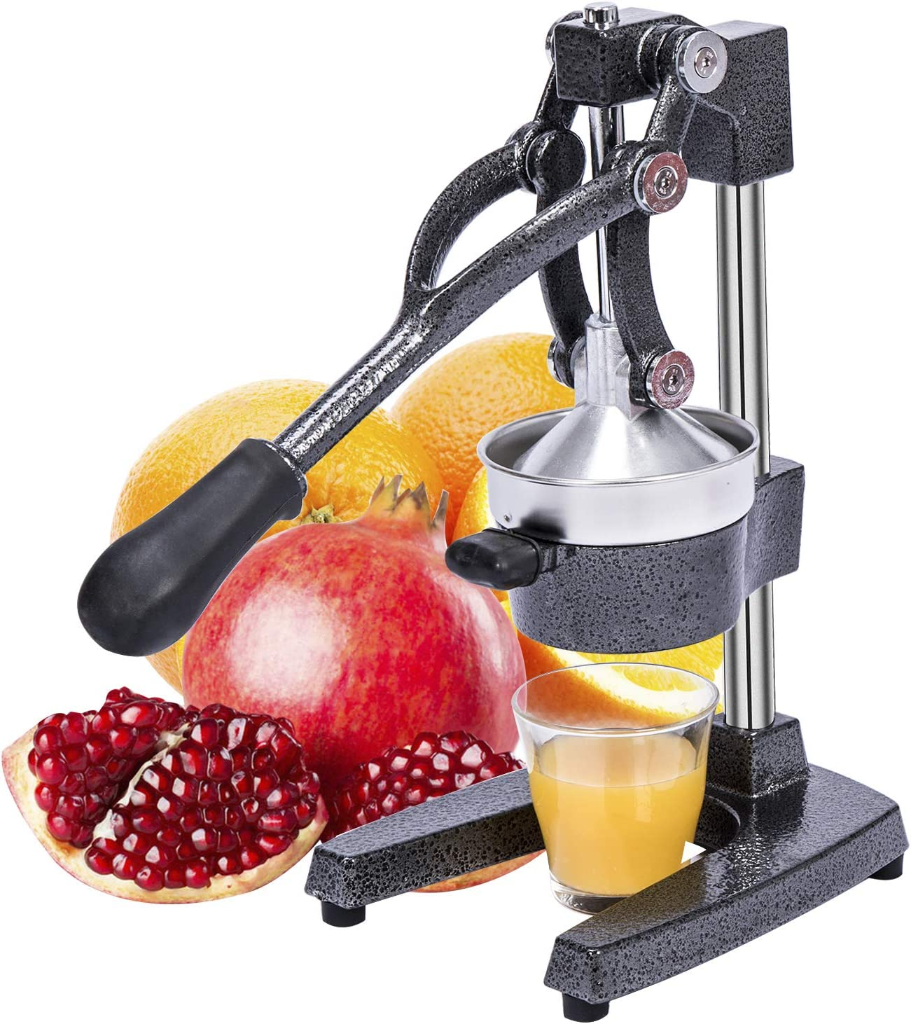Gowintech Commercial Heavy Duty Cast Iron Hand Press Manual Orange Citrus Lemon Lime Grapefruit Fruit Juice Squeezer Machine Grey