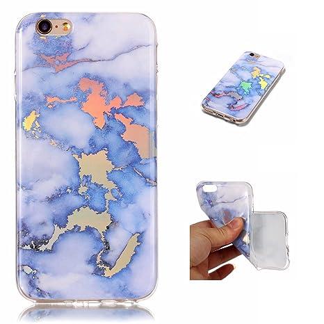 WindTeco Funda iPhone 6S Mármol, Carcasa iPhone 6, Ultra Fina Funda de Silicona Suave Case Cover Protección Cáscara Soft Gel TPU Carcasa Funda para ...