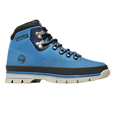 ee1001e7100 Timberland CA15QO Men's Euro Hiker Jacquard Boots, Color Blue, Size ...