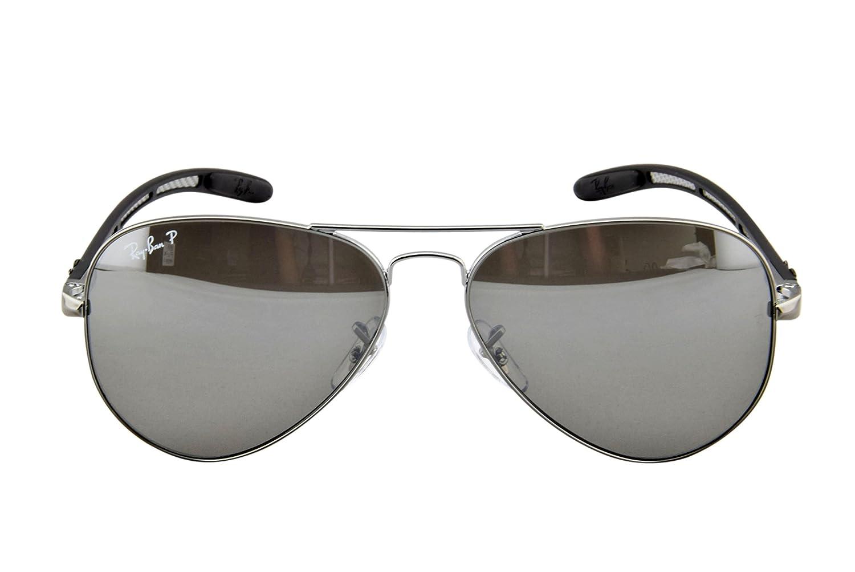 7a692cb587 ... cheapest ray ban orb8307 004 n8 aviator sunglasses gunmetal frame  crystal polar grey mirror silver green