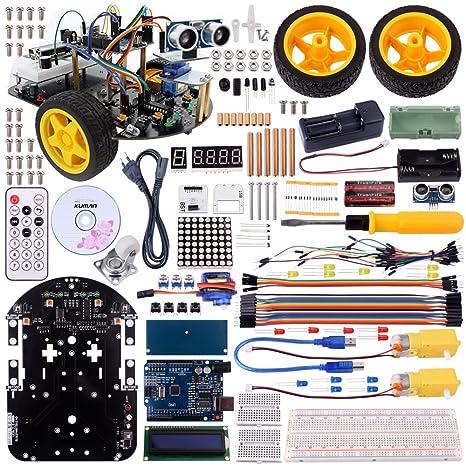 Kuman Robot Smart Car Kit para Arduino, 2 Ruedas Utility Vehicle Inteligente Robótica DS Robot