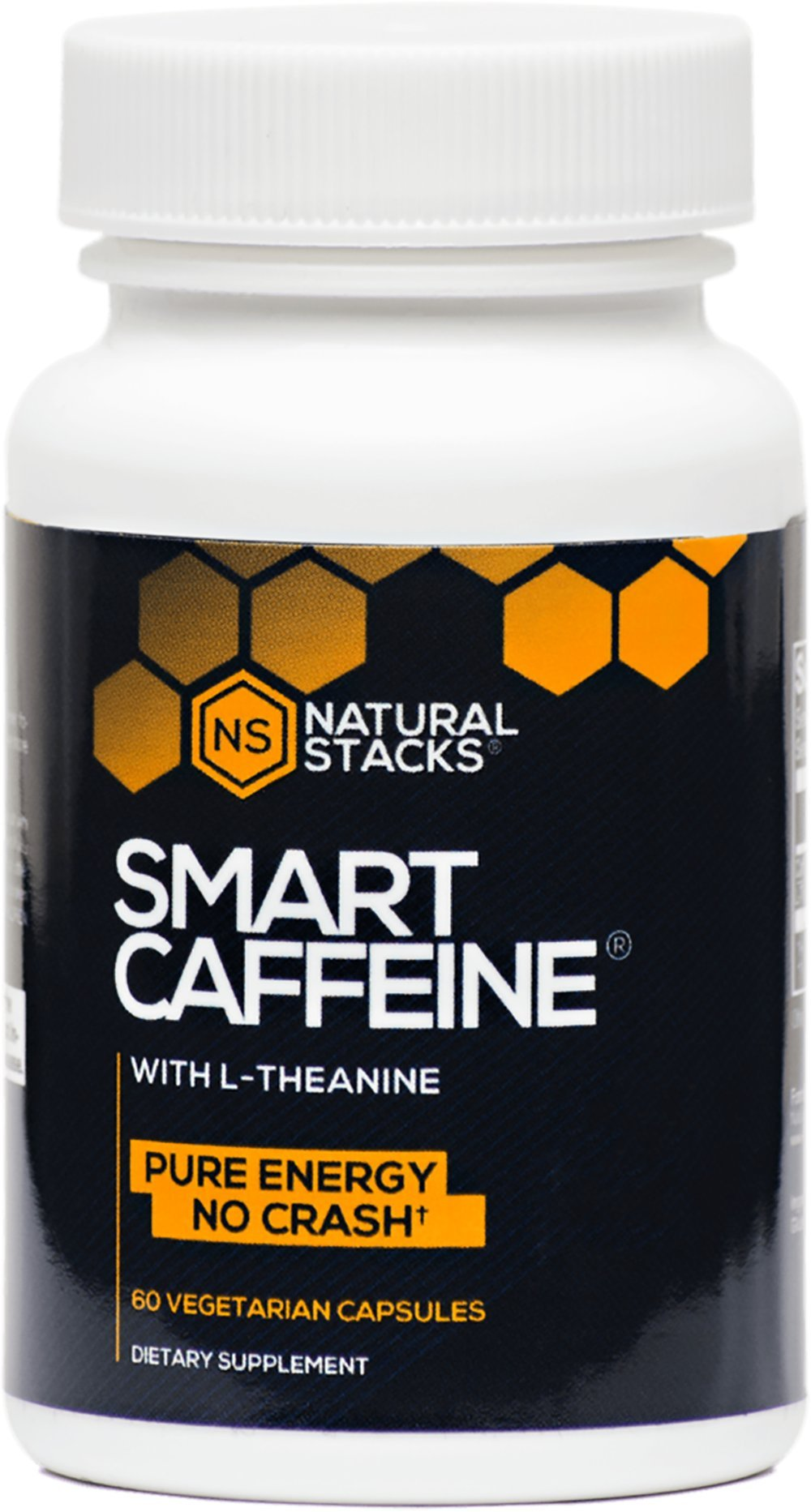 Natural Stacks Smart Caffeine - Energy Supplement - Single Bottle Contains 60 Capsules - Creates Long-Lasting Energy, Prevents Caffeine Crashes, Increases Alertness and Productivity