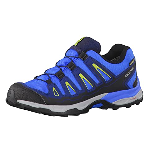 Salomon L38158900, Zapatillas de Senderismo para Niños, Azul (Bright Midnight Blue/Green GLO), 34 EU: Amazon.es: Zapatos y complementos