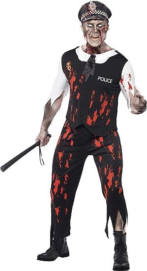 Smiffys Smiffys-38882L Halloween Disfraz de policía Zombi, con ...