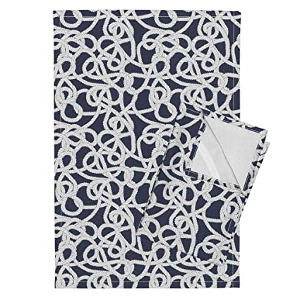 Amazon Rope Tea Towels Nautical Preppy Sea Knot Sail Boat By