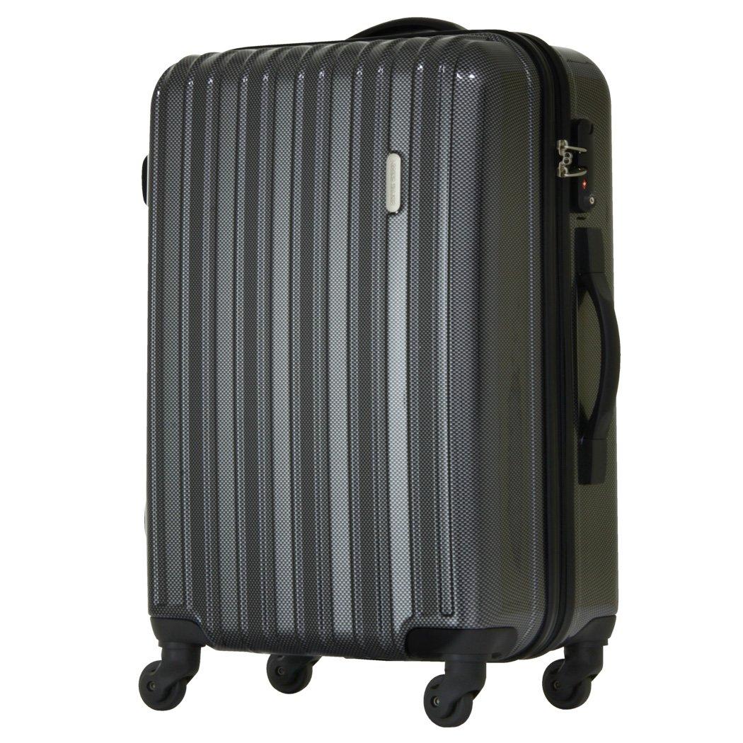[レジェンドウォーカー] スーツケース ジッパー ハードスーツケース 4輪 快適な走行性能のキャスター 5096-58 保証付 58L 66 cm 3.4kg B01GH5PMUY カーボン