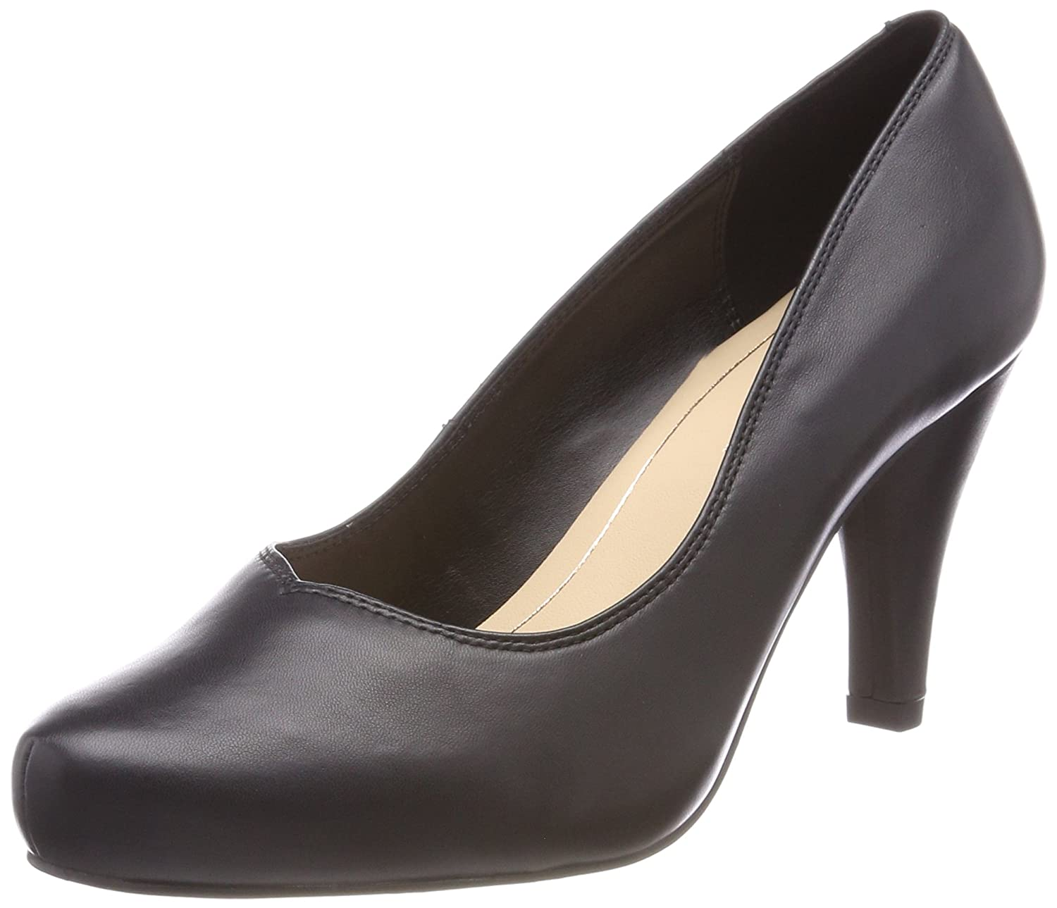 Schwarz(schwarz Leather) Clarks Damen Dalia Rosa Pumps