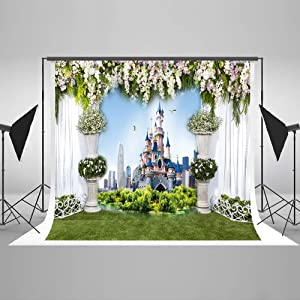 Kate 10x10ft Wedding Photo Backdrop Castle Building Photography Backdrop Outdoor Backdrop