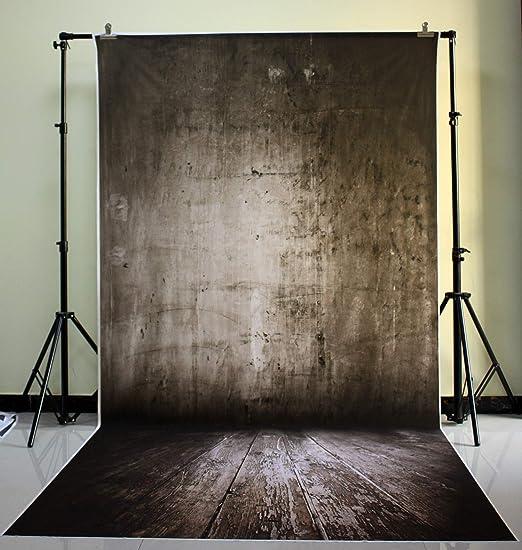 DE) 150x300cm Telón de fondo lavable de la fotografía del diseño del muro de cemento del negro del poliéster XT-539 NIVIUS PHOTO: Amazon.es: Electrónica