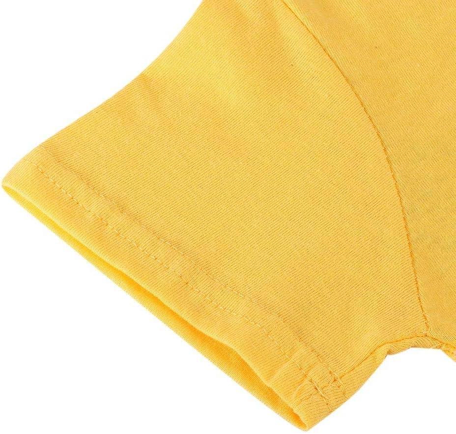 Camicia estiva a maniche corte per bambini con pantaloncini Set giallo Cartoon Airplane Pattern Stampa abiti per il bambino 73