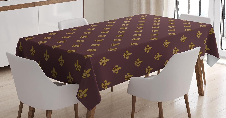 Amazon.com: Ambesonne Fleur De Lis Tablecloth, French Pattern