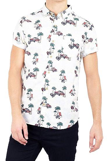 Brave Soul Camisa Casual - para Hombre: Amazon.es: Ropa y accesorios