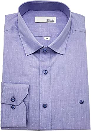 HERRBON] Camisa de Vestir de Manga Larga con Botones Ocultos ...