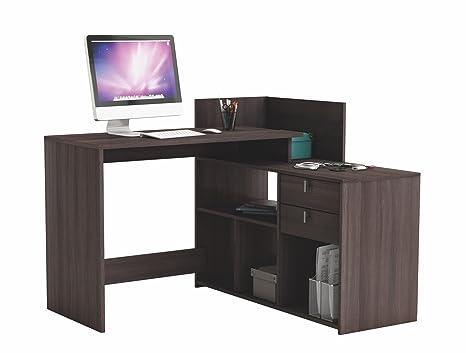 4e8924ef505f0 Abitti Escritorio Mesa de Estudio Ordenador 121cm. Color Roble Vulcano. para  despacho