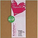 Papermania 6 x 6-inch Kraftstax Premium Kraft Paper Inserts Eco Cardstock, Pack of 20, Brown