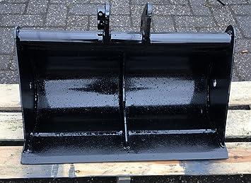 Micro Bagger 20cm Tieflöffel Bolzen Tiefschaufel Baggerschaufel Baggerlöffel NEU