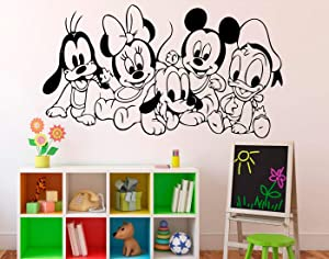 Place Mickey Mouse Wall Decal - Disney Cartoon Vinyl Sticker Wall Art Decor Home Interior - Kids Nursery Room Design Made in USA - 12x15 Inch