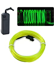 lychee Neon Glowing Strobing Electroluminescent Light El Wire w/Battery Pack Parties, Halloween Decoration
