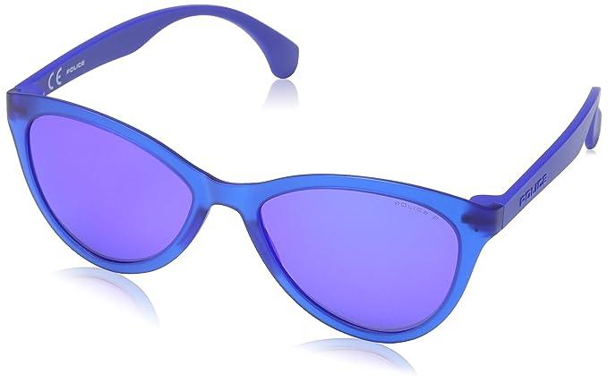 Police Damen Sonnenbrille SPL086, Mehrfarbig (Semi-Matt Black), Einheitsgröße